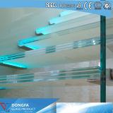 Triple couche psc trempé clair de la voie de l'escalier de verre feuilleté