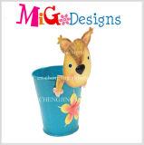 Venda a quente Fox figuras de flores do jardim de metal o design exclusivo da Plantadeira