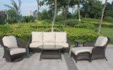 6 parties d'osier plat de sofa de jardin de demi de lune des meubles 0300 10mm de courbe réglée en osier ronde et osier rond de 5mm