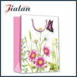 Blumen-Drucken-kundenspezifischer Firmenzeichen-Großverkauf-Entwurf, der Papiereinkaufen-Beutel bekanntmacht