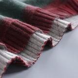Do pulôver de tamanho grande da impressão da camisola das mulheres luvas longas feitas malha novas