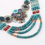 ボヘミア様式女性のための大きく贅沢な文のネックレス
