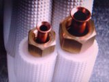 """Accoppiamenti di alluminio di rame isolati del gemello del tubo del tubo 1/4 """" 1/2 """" del condizionatore d'aria 20 tester"""