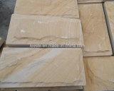 Желтые деревянные песчаник и плитки песчаника