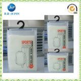 Il marchio dell'OEM ha stampato il sacchetto di plastica dell'imballaggio dell'indumento di tiro della chiusura lampo del PVC (JP-plastica 002)