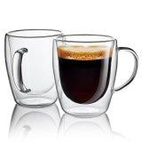 De gros de tasse de lait à double paroi faite à la main des verres de jus de fruits personnaliser tasse de café