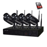 4CH 720p impermeabilizan el kit de la cámara del hogar de la seguridad del CCTV del IR WiFi NVR del arsenal