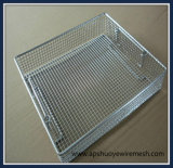 Cesta de fio de aço inoxidável medicial para esterilizador de laboratório