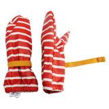 PU Waterproof Rain Mitten/Rain Glove/Raincoat Red нашивки с Buttom для Baby/Chilid