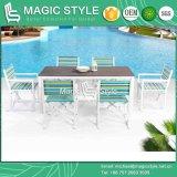 Стул складчатости с цветастым тканьем для напольного слинга обедая сад стула стула цветастый обедая напольный обедая установленный обедая стул (ВОЛШЕБНЫЙ ТИП)