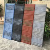 Le bitume de l'asphalte de bardeaux de toit recouvert de carrelage en pierre des matériaux de toiture