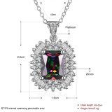 De mooie Halsband van de Tegenhanger Zircon van het Ontwerp Platina Geplateerde
