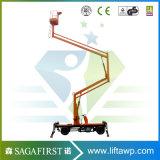 diesel van 10m articuleerde het Zelf Drijf Werkende Platform van het Platform van de Lift van de Hemel