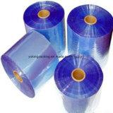 Film rétractable PVC rigide de couleur bleu transparent pour le thermoformage
