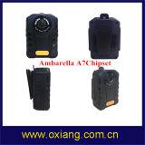 Встроенный коммутатор 2900Мач литиевая батарея IP65 Ambarella A7 полицейского органа изношенные DVR регистратор