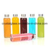 17oz löschen Glaswasser-Flaschen mit Splitter-Edelstahl-wasserundurchlässigen Schutzkappen