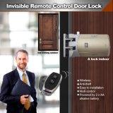 Sem cablagem para fácil instalação mais fixe Anti-Theft 433MHz Smart invisíveis com 2 válvulas remotas de bloqueio da porta