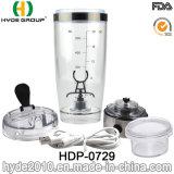 600ml에 의하여 주문을 받아서 만들어지는 플라스틱 와동 단백질 셰이커 병, BPA 자유롭게 플라스틱 전기 단백질 셰이커 병 (HDP-0729)