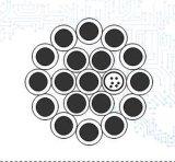 Cavo ottico incagliato di Opgw del filo di messa a terra con 24 memorie