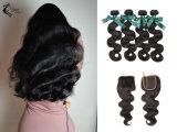10Uma onda de Corpo Peruano 100% virgem trama de cabelo preto natural por grosso