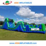 Défi de qualité commerciale adulte Course à obstacles gonflables pour sauter la diapositive