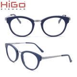 Bril van de Frames van Eyewear van het Metaal van de Mengeling van de Acetaat van Higo de Optische