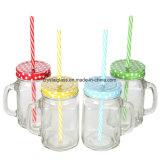 Alte Form-trinkende Gläser mit Plastikstrohe 16 Unze abgleichen