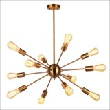 Современные латунной щеткой гостиной люстра висящих подвесной светильник
