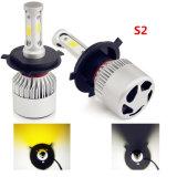 Neues LED-Auto-Licht-verdoppeln weißer Gelb S2 PFEILER 8000lm H13 H4 H7 Selbst-LED Scheinwerfer-Birnen der Farben-