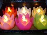 Design de Flores Flameless Tipo Vela LED com chamas de dança