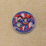 OEMの最高レベルの旧式な銀が付いている印刷されたスーパーマンの硬貨