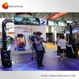 La Realidad Virtual 9D Vision 360 caminando de la plataforma de la estación permanente Simulator HTC Vive Vr el rodaje de la máquina juego