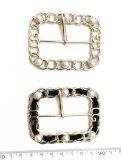 Kleding Accessoires Classic High-Quality Metal Microfiber Pearls Aluminium Buckles, Fashion Accessoires Handmade Belt Buckles
