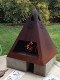 Cortenの鋼鉄屋外の火ピット