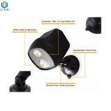 Sensor de movimiento de LED de luz con fuente de alimentación de batería seca
