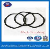 Rondelle de freinage noire de rondelles d'acier inoxydable de rondelle à ressort d'onde du finissage DIN137