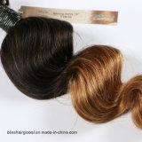Golf Ombre T1b-30# van de Lente van het Weefsel van het Menselijke Haar van 100% de Braziliaanse Maagdelijke