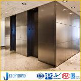 Panneau en aluminium de nid d'abeilles de couleur argentée pour l'ascenseur et le levage