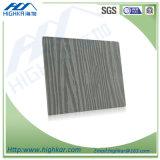 Placa impermeável decorativa exterior do silicato do cálcio da placa de madeira da parede da grão