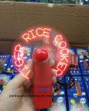 Ventilador ligero caliente de la venta LED mini con insignia impreso (3509)