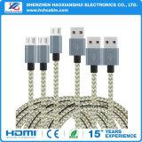 Сплетенный нейлоном кабель USB Micro веревочки ткани Braided для мобильного телефона Samsung