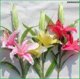 高品質結婚式のホーム装飾のための擬似ユリの人工花