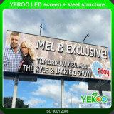 Cartelera al aire libre de la pantalla del precio bajo LED de la alta calidad que hace publicidad de la visualización