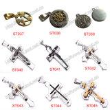 De Halsband van de Juwelen van de manier met het Kruis van het Roestvrij staal, de Gift van de Bevordering (iO-St000)
