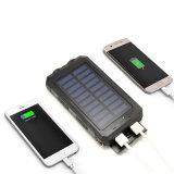 Водоустойчивая батарея External заряжателя USB 10000mAh солнечная Powerbank двойная передвижная