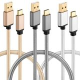 Micro Android Lightning Typec USB Data Wiith Cable Braided Nylon