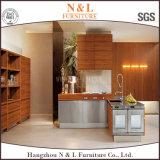 台所家具の白い木Veneer 食器棚