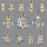 ampoule St64 2W 4W 6W 120V 230V/St64 d'Edison d'ampoule de filament de 2700k E26 E27 Dimmable DEL