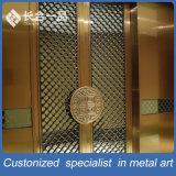 Diviseur de salle en acier inoxydable à finition laser Bronze personnalisé pour hôtel / restaurant
