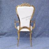 Regina dell'oro di cerimonia nuziale della mobilia dell'albergo di lusso Yc-Ss32-01 e re Throne Chairs da vendere